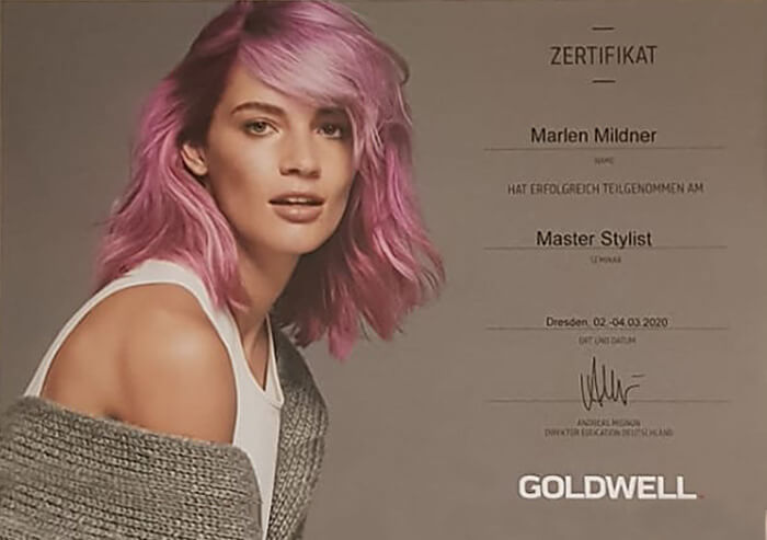 Zertifikat Master Stylist | Friseurstudio AtmospHair